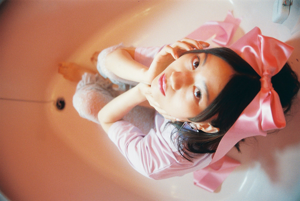 (4次入荷) (rsp made) lavender twinkle kitty tee shirt
