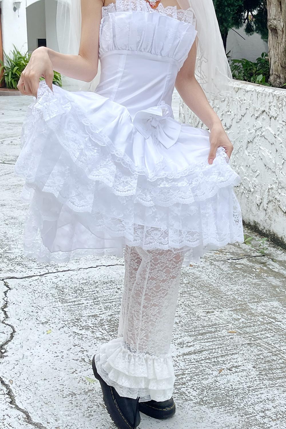 vintage ribbon corsage dress