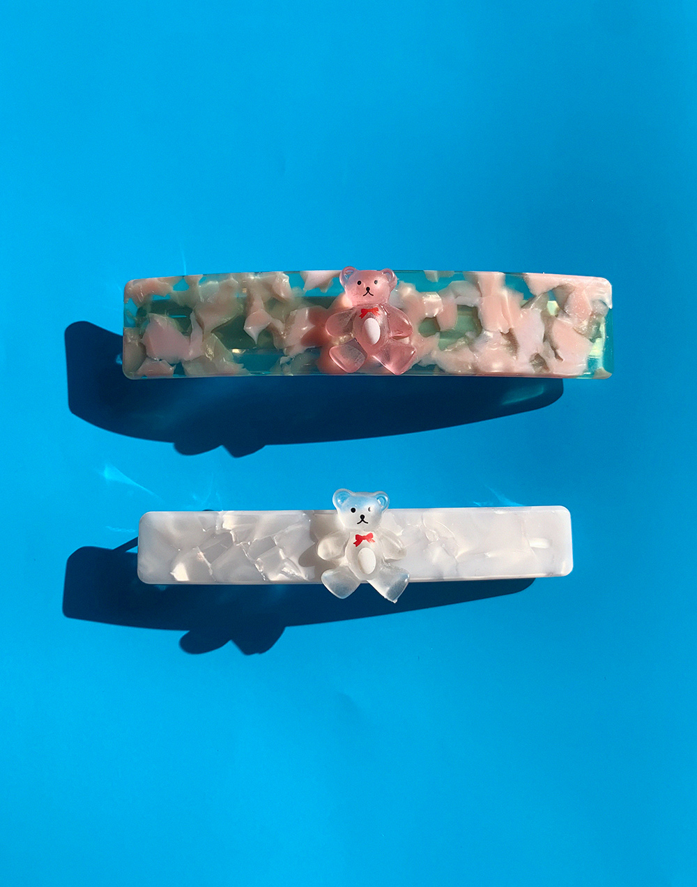 (2COLOR) MARBLE BEAR HAIRPIN