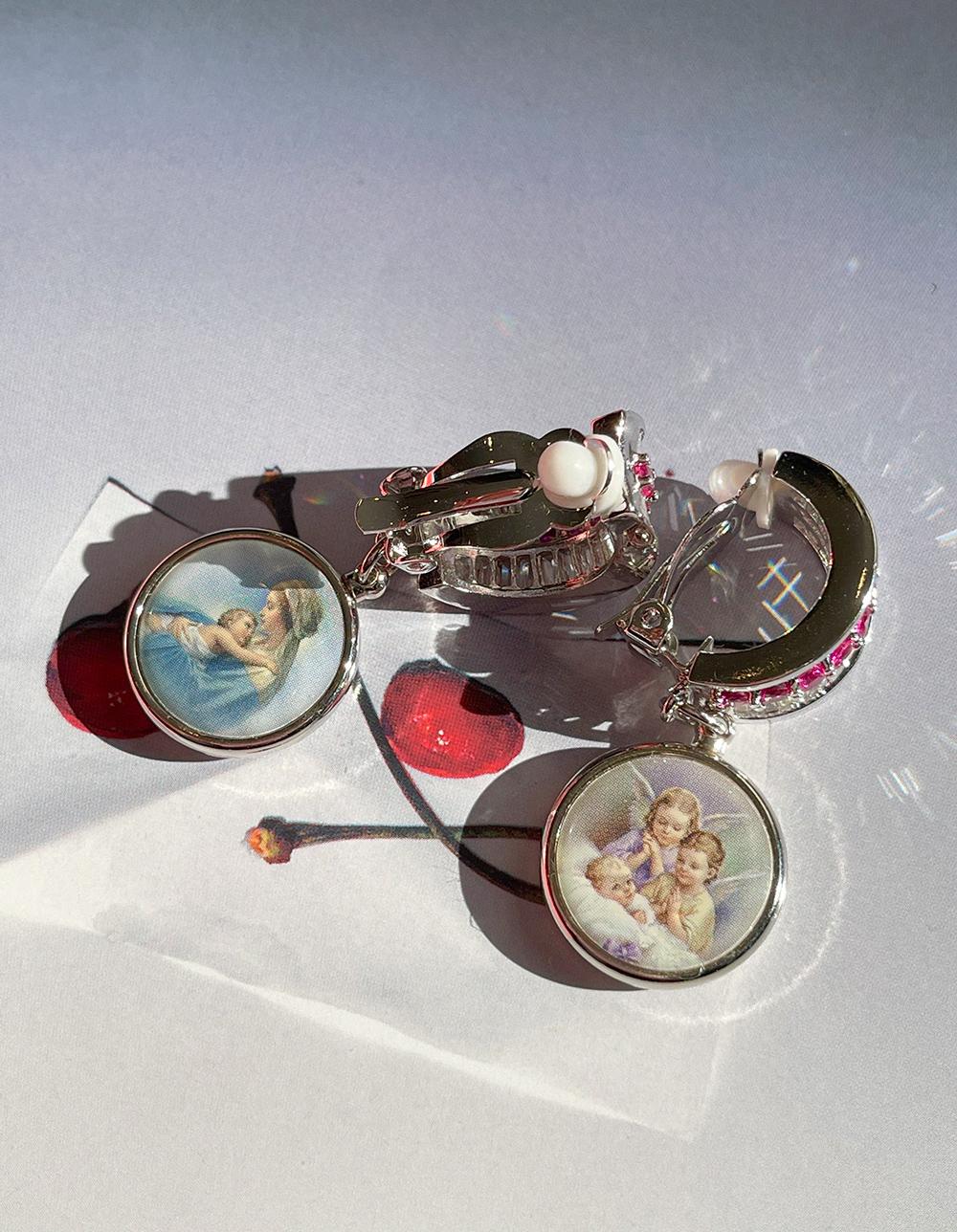 ruby angel  earring & pierce