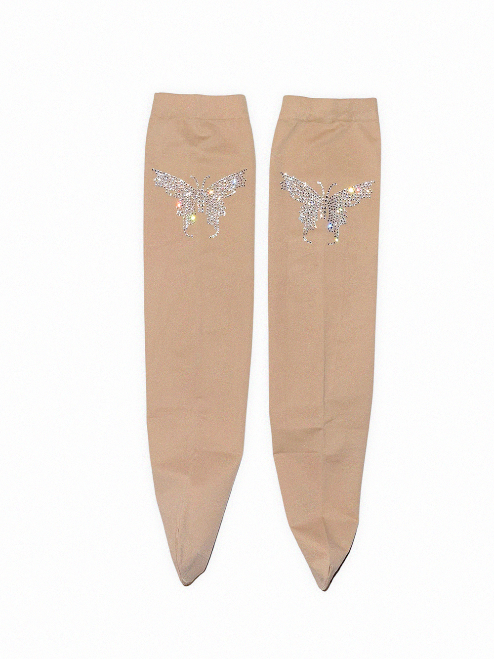 (rsp made) crystal butterfly knee-high