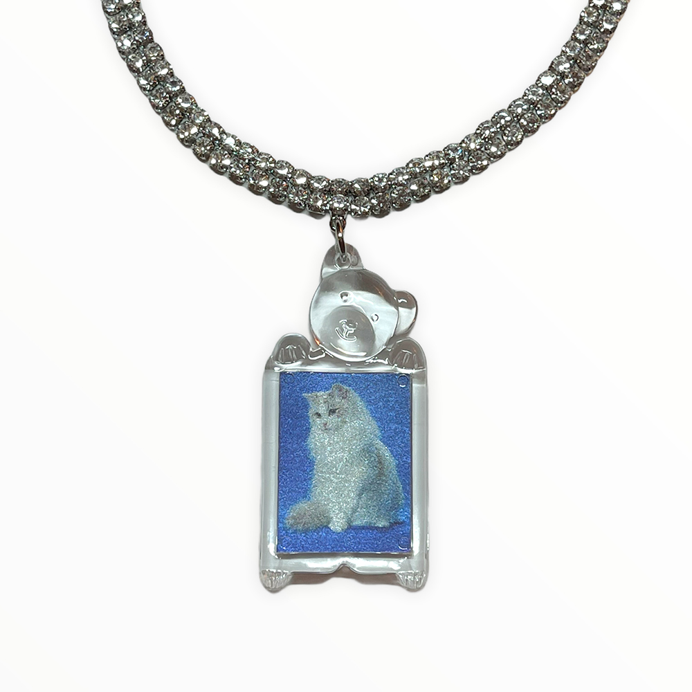 (rsp made) kitty id picture choker (再入荷)