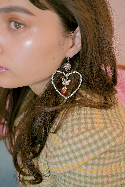 HEART DROP EARRING & PIERCE