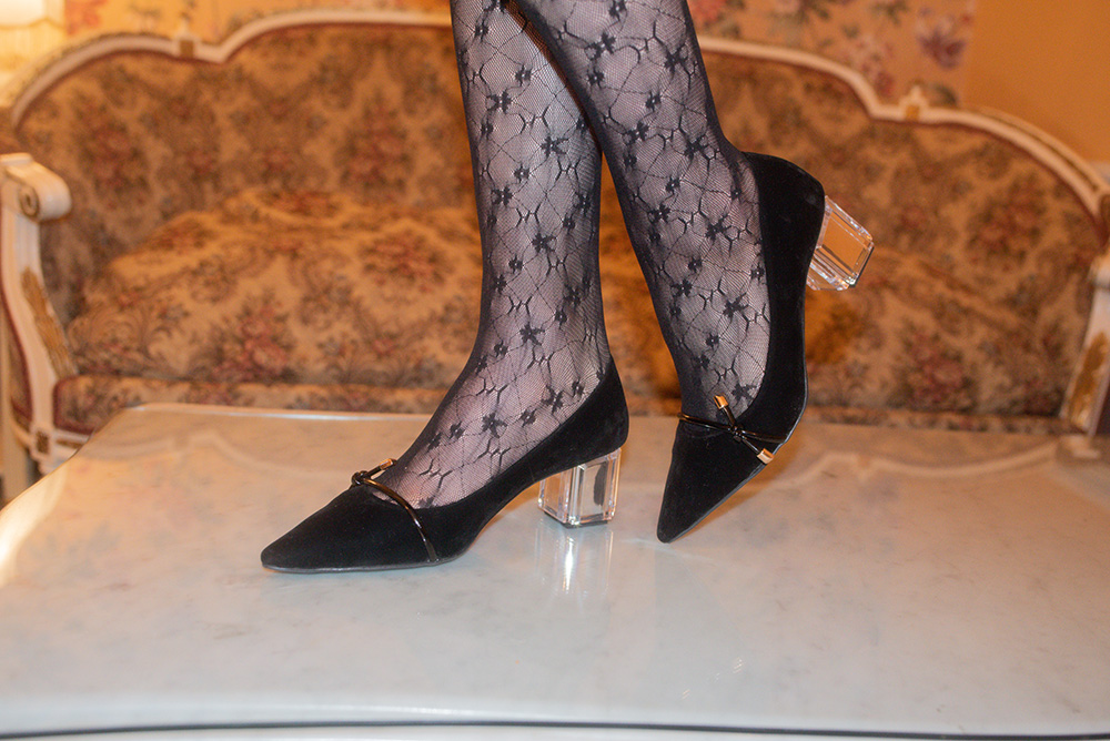 (BLACK) LACE TULLE STOCKING