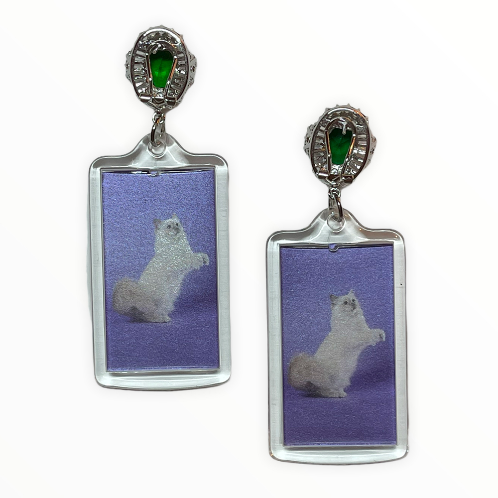 (rsp made) kitty id picture earring & pierce