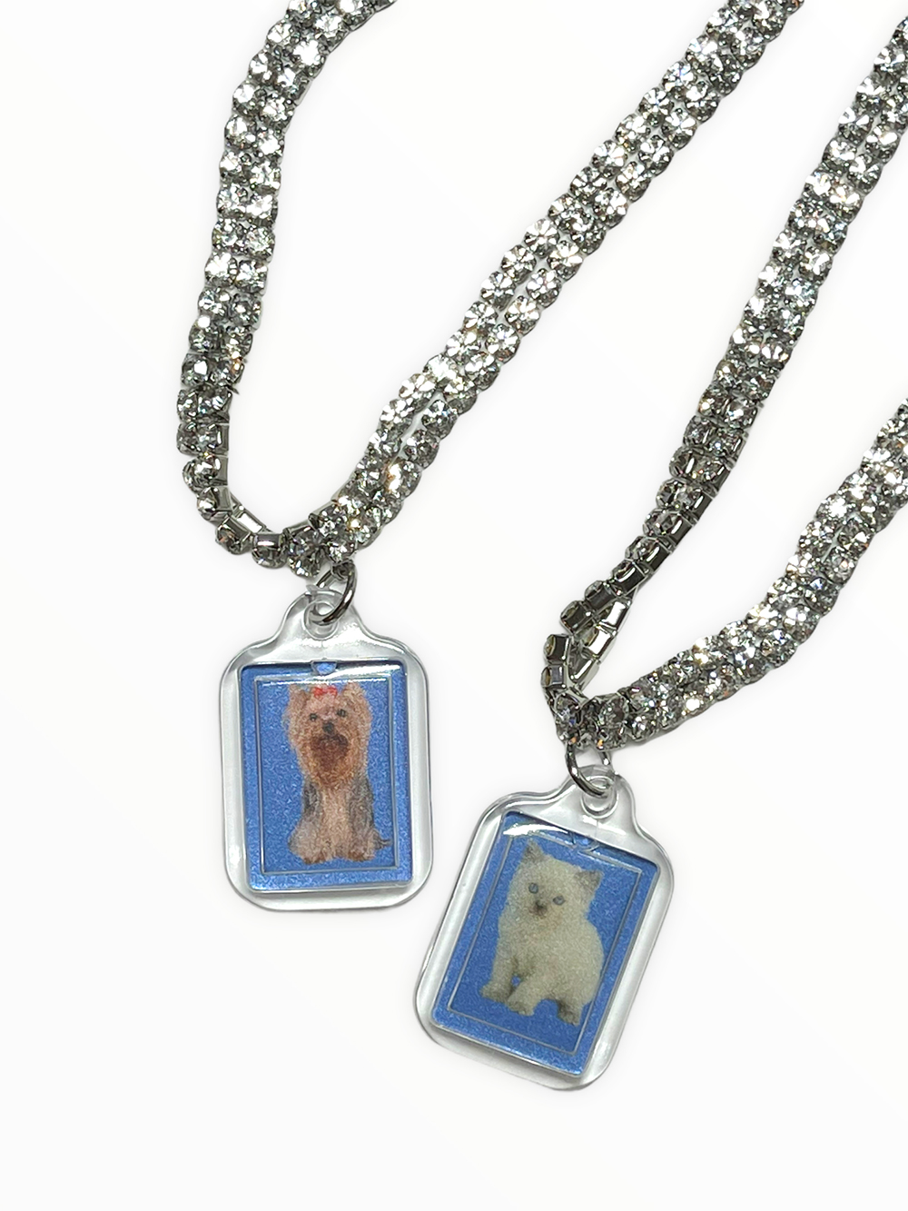 (rsp made) kitty & yorkie id picture choker