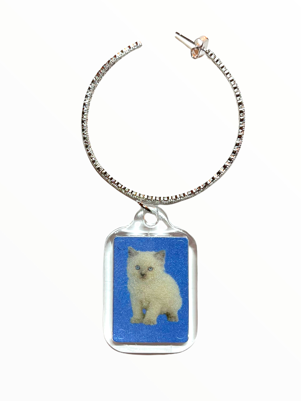 (rsp made) kitty & yorkie id picture earring & pierce