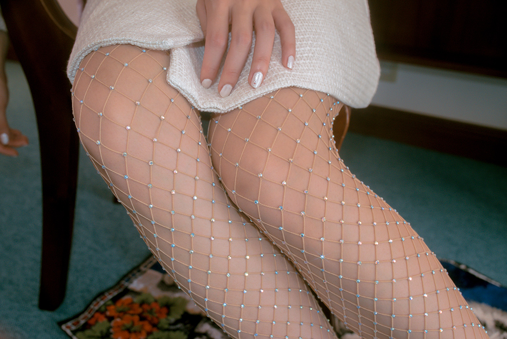 (再入荷)AURORA STONE MESH STOCKING