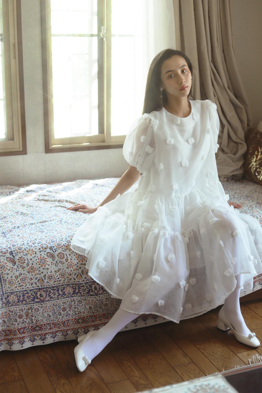 (2color) pompom dress