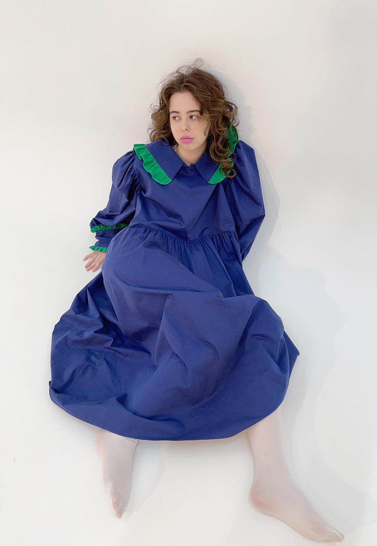 frill collar dress