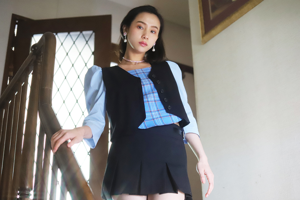 micro mini skirt + vest set