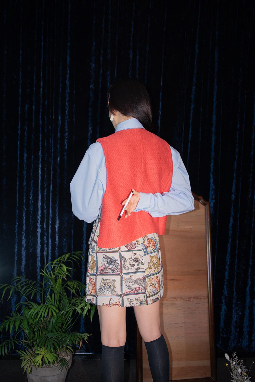 (再入荷) Jacquard cat skirt