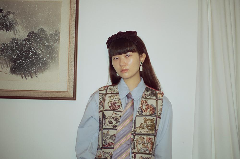 (再入荷) Jacquard cat vest