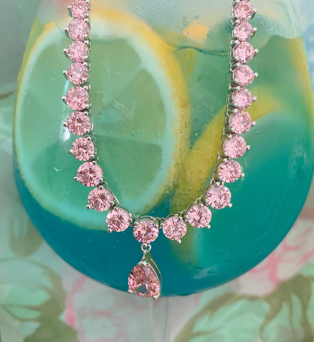 (pink) drop choker