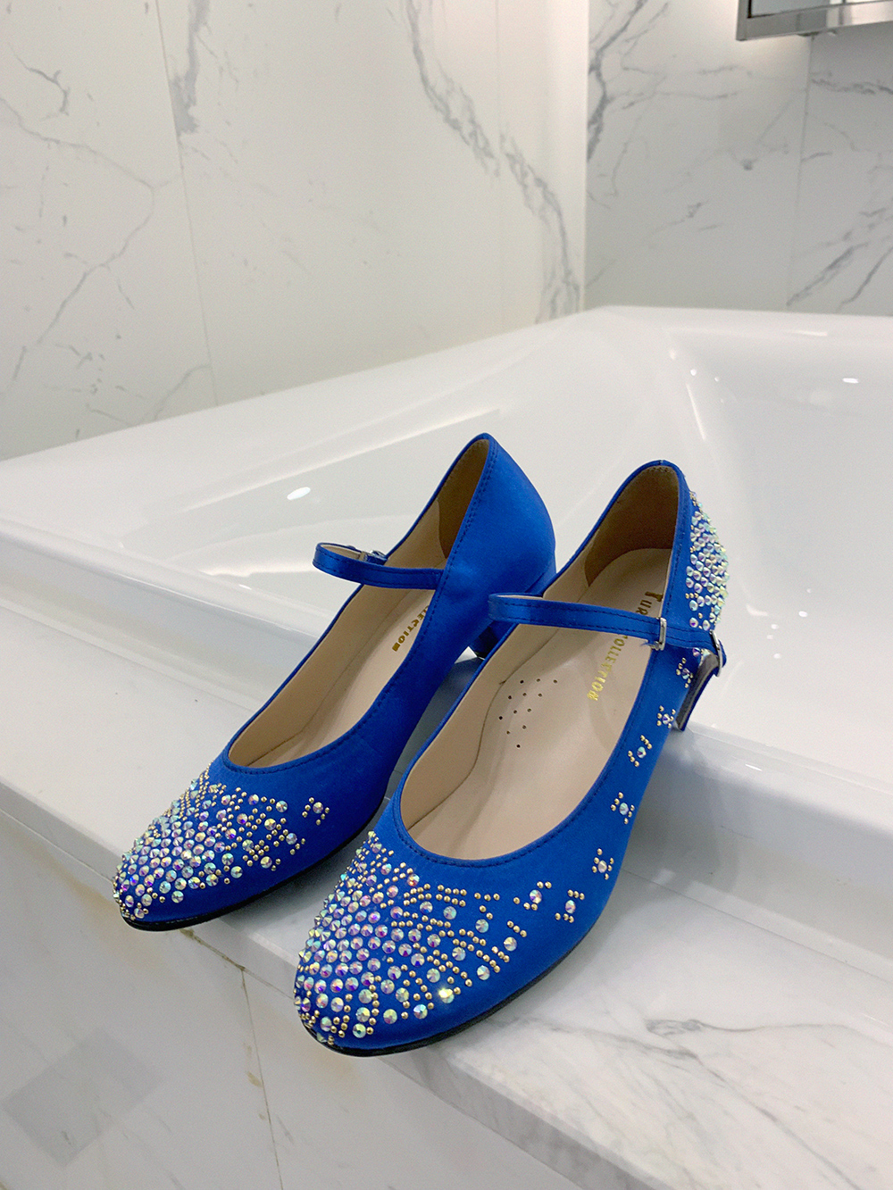 (sale30%)BLUE AURORA MARY JANE SHOES (order made)