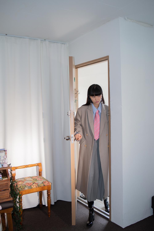reversible double long coat