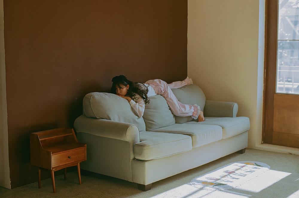 (lavender) ribbon lace lounge pants