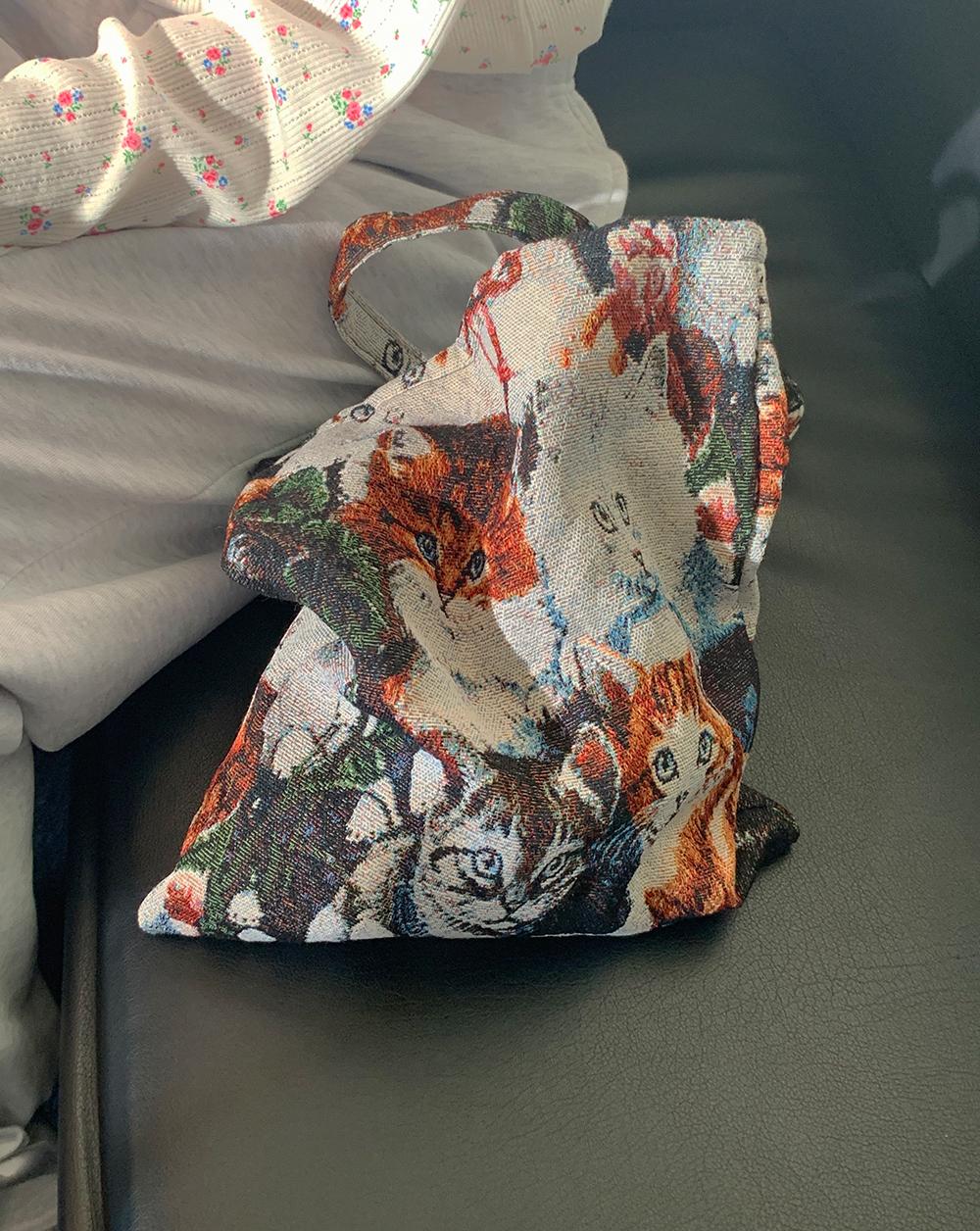 jacquard cats bag(12/9再入荷予定)