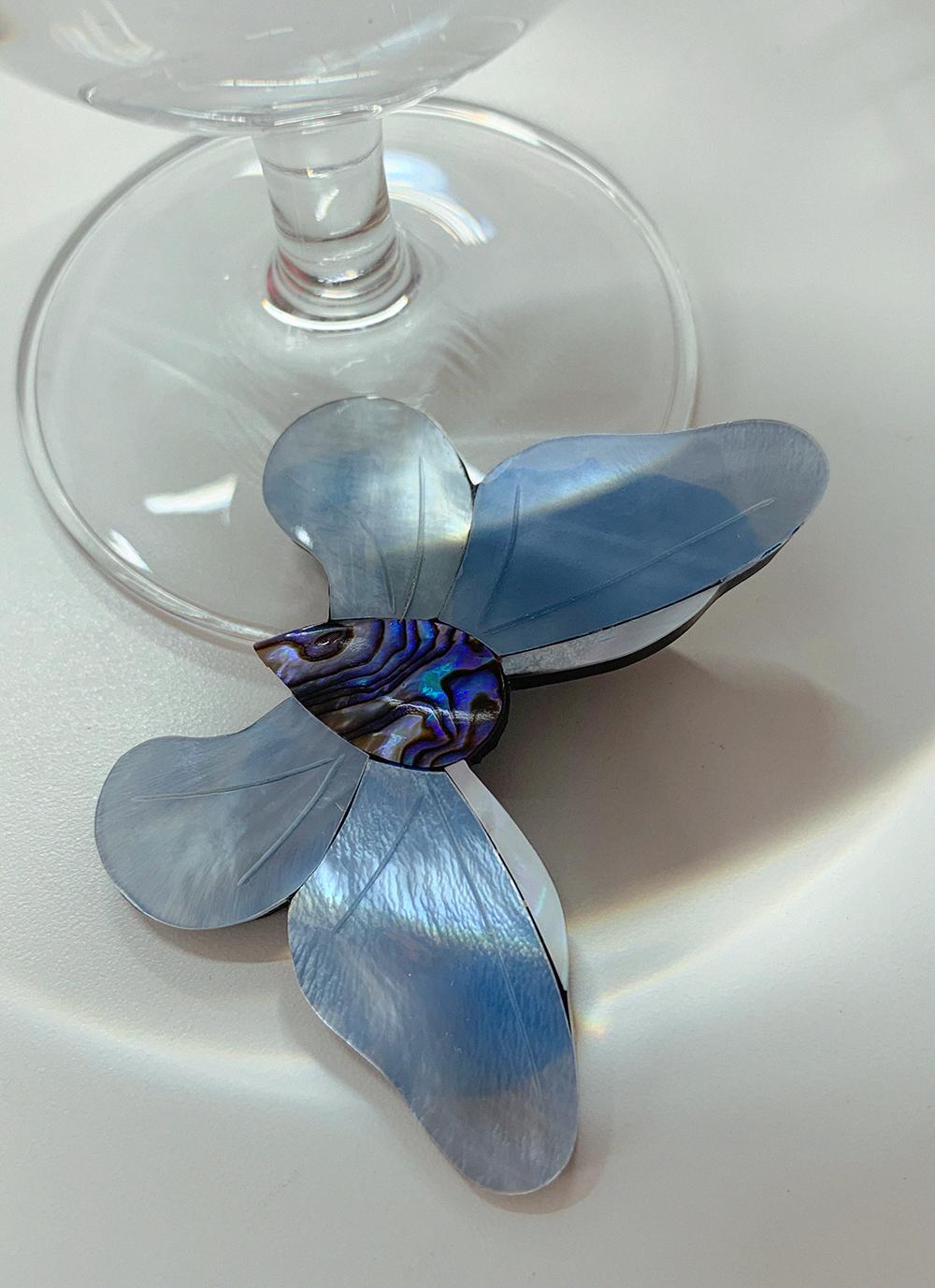 (再入荷)BLUE BUTTERFLY EARRING & PIERCE