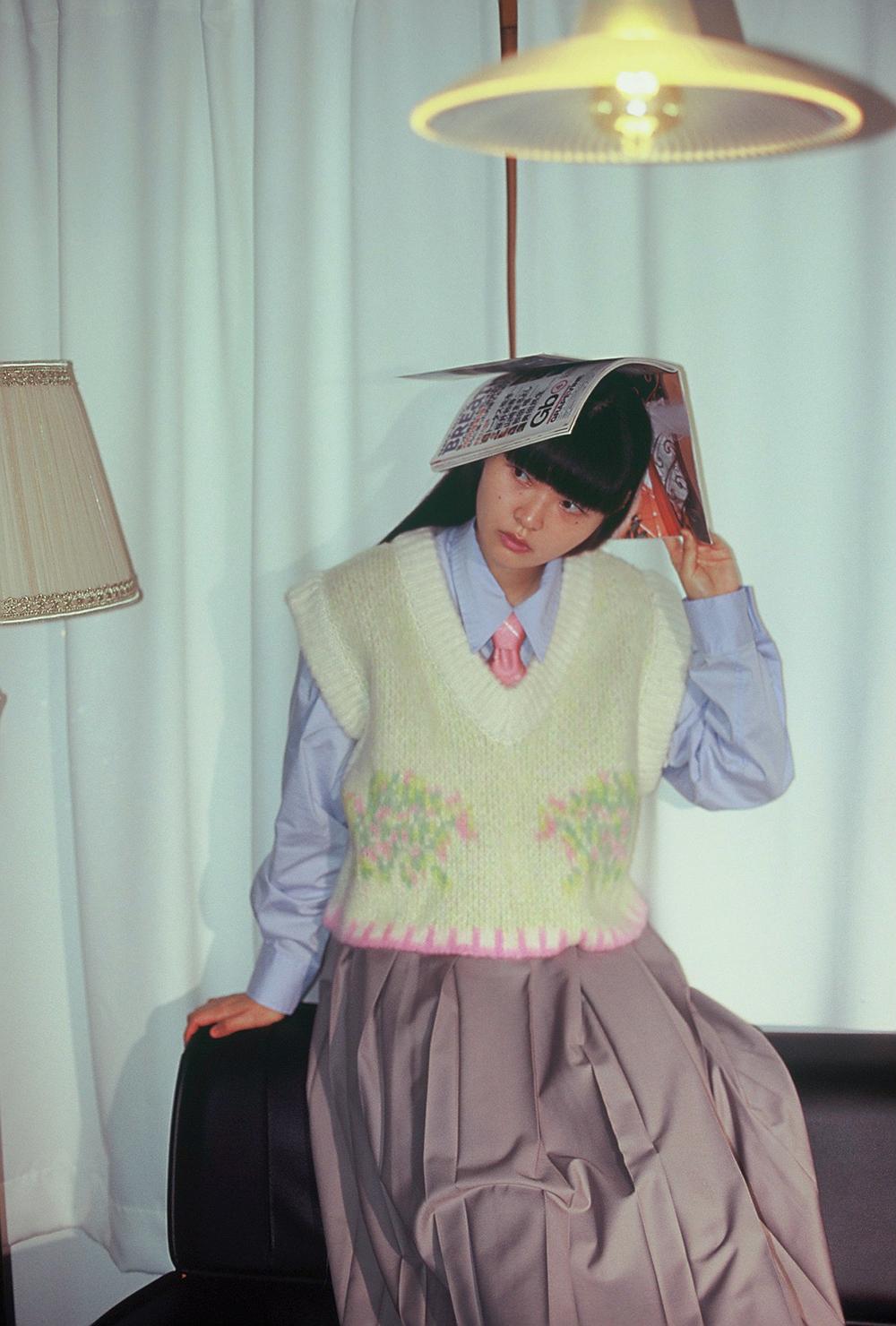 cotton candy knit vest