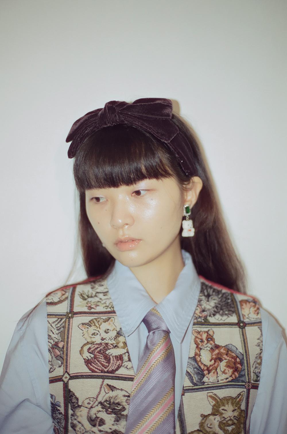 (brown) velvet ribbon twinkle hairband