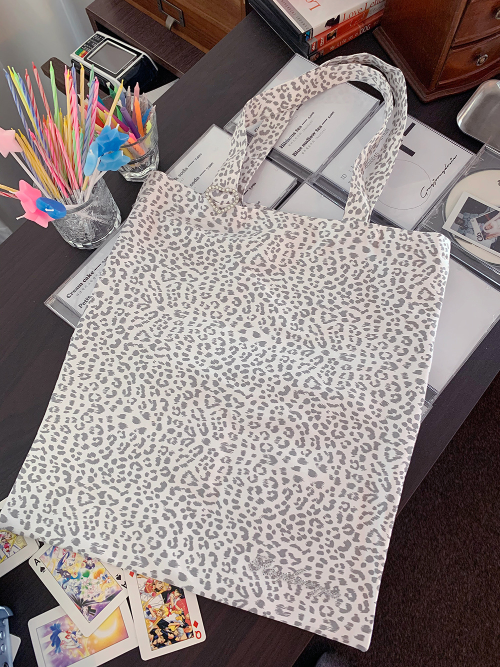 (3color) fancy leopard bag