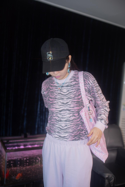 (3color) fancy leopard bag