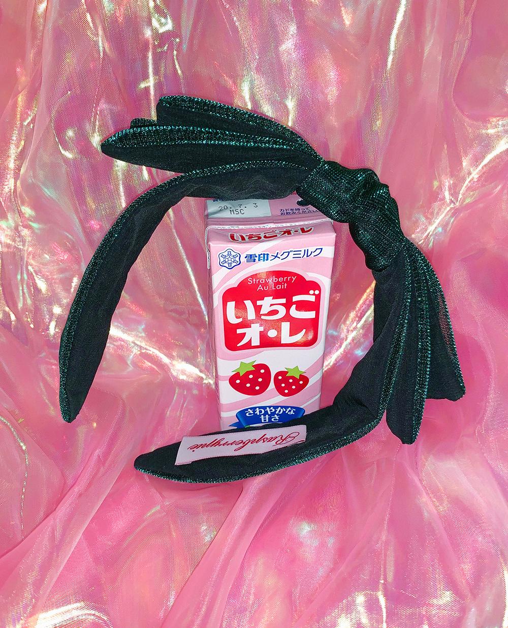 (green) ribbon mesh hairband