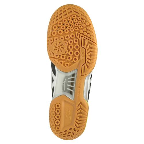 ミズノ バドミントンシューズ ウエーブファング プロ MID(71GA1903)3E相当の方向け ユニセックス 男女兼用 室内 体育館 靴 軽量 天然皮革のフィッティングに安心感を加えたハイスペックミッドカットモデル MIZUNO badminton shoes