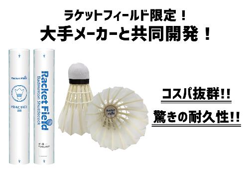 【送料無料】ラケットフィールド オリジナル シャトル プラクティスJH10ダース 中高生 練習用 練習球