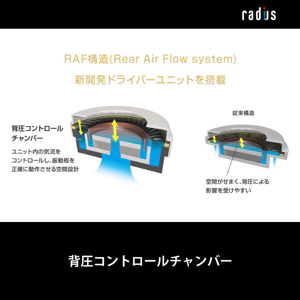 HP-NX100 RAF構造搭載 高解像度ハイレゾイヤホン MMCXコネクタ搭載
