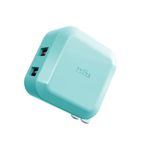 RK-ADA02 2ポート USB ACアダプター 2.4A出力