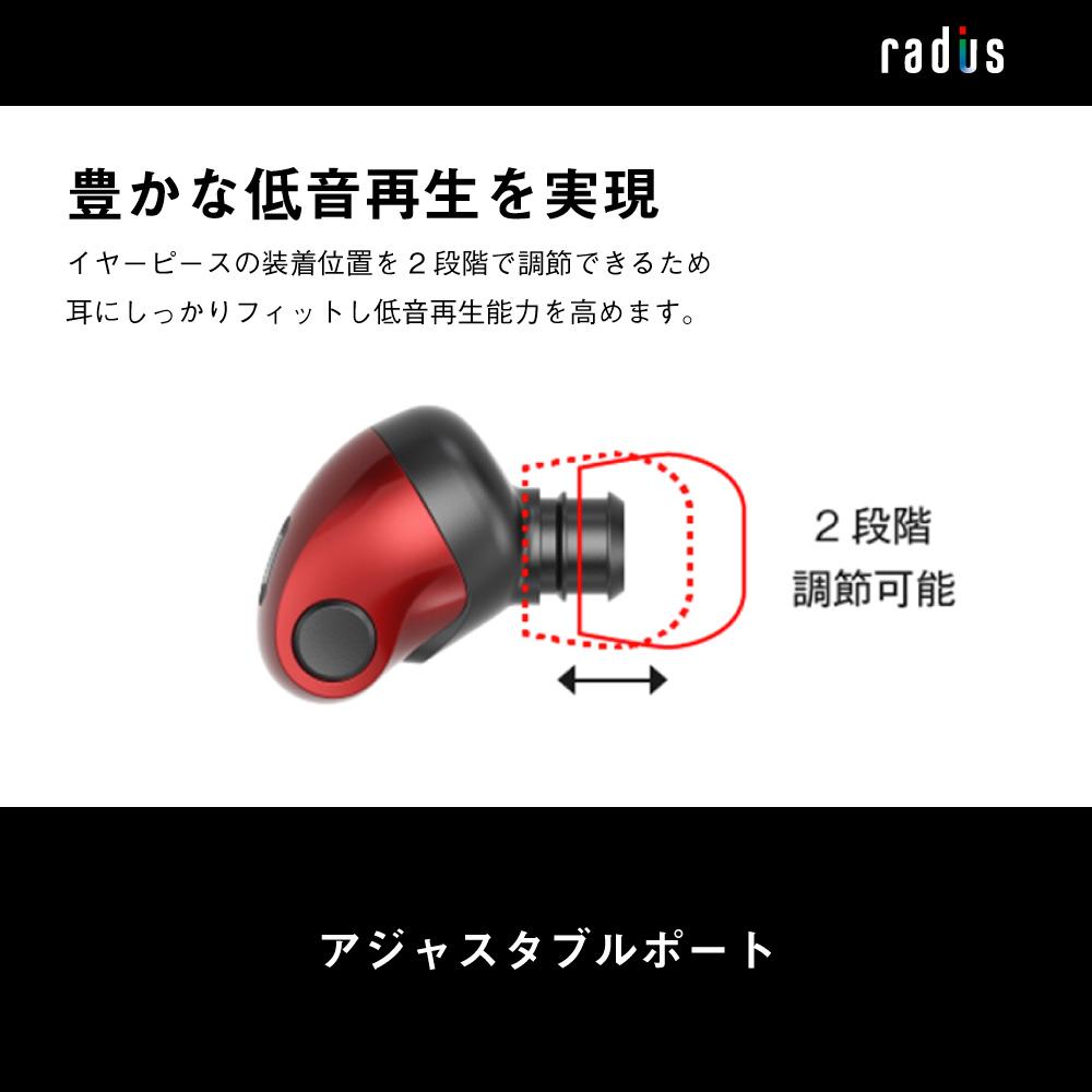 HP-NX30L NeEXTRA Series 充電ポート付き Lightning直結イヤホン