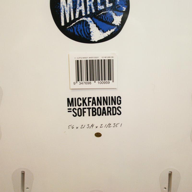 """ミックファニング・ソフトボード LITTLE MARLEY 5'6"""" WHITE"""