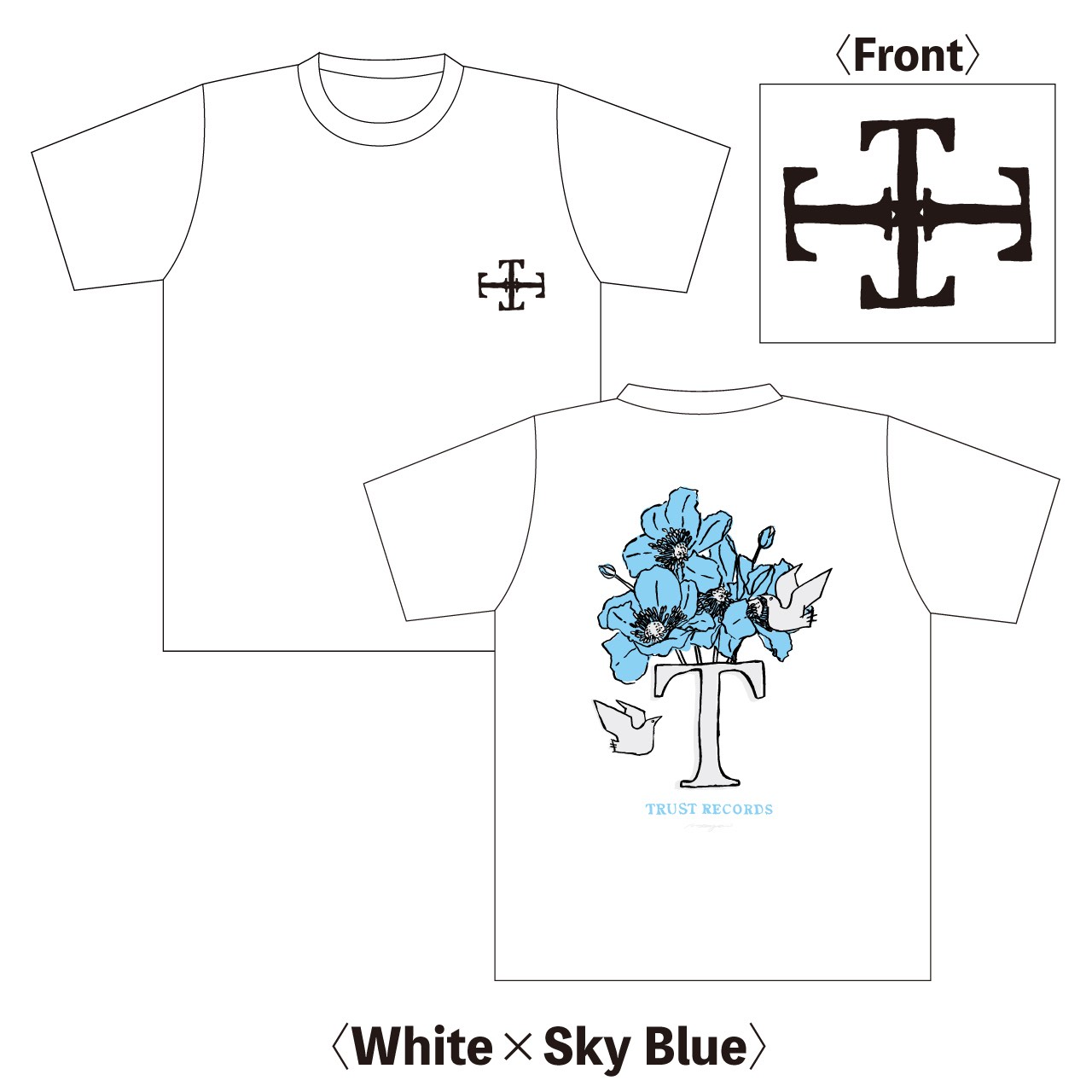 TRUST RECORDS Flower T-Shirts