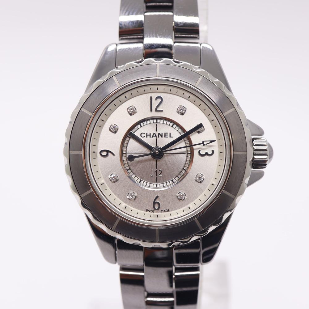 【CHANEL】シャネル H3401 J12 クロマティック 8Pダイヤ レディース 腕時計