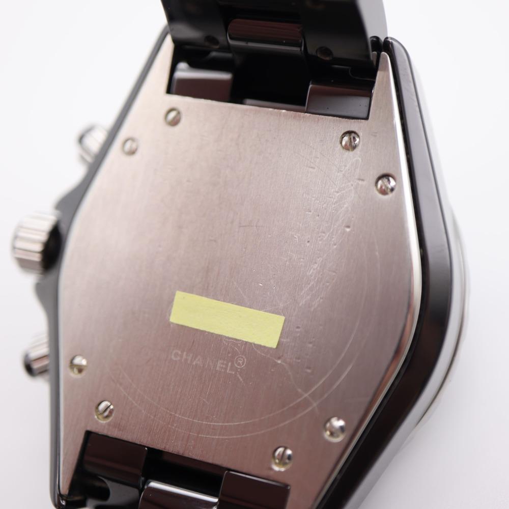 【CHANEL】シャネル H0940 J12 黒セラミック 41ミリ クロノグラフ 自動巻き メンズ 腕時計 中古