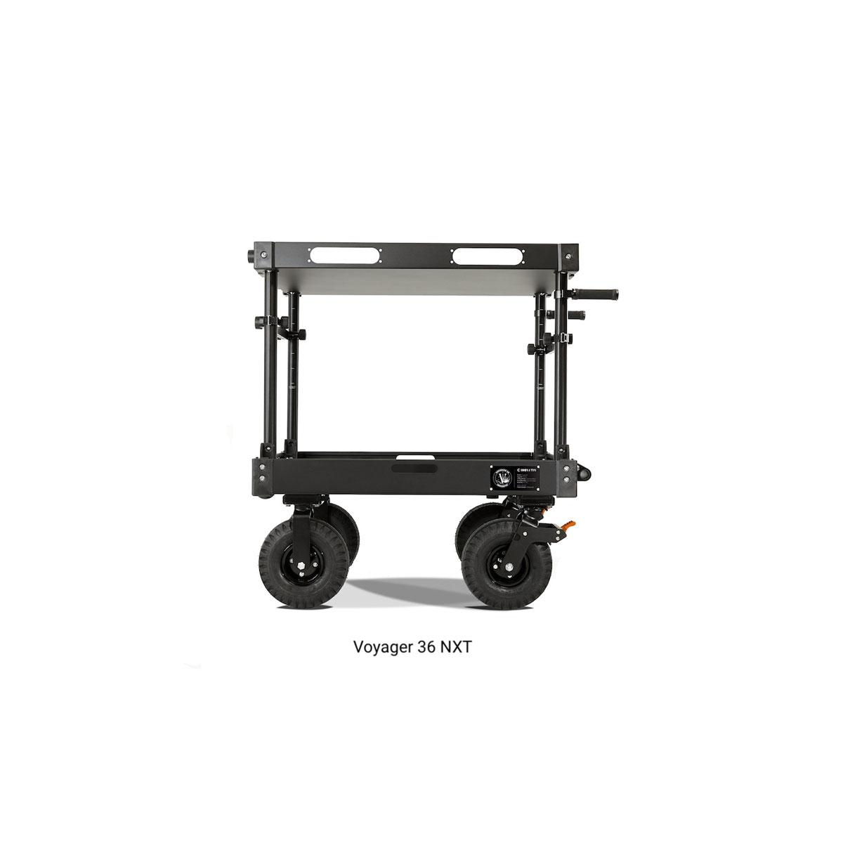 """VOYAGER NXT CARTS - Voyager 36 NXT ( Premium EVO 10"""" Aluminum Wheel System / FIXED - Top Shelf Height )"""