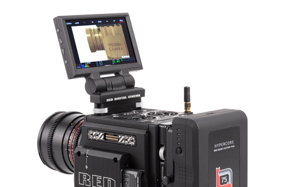 Wooden Camera - Tool-less LCD/EVF Adapter (RED DSMC2)  SKU:233800
