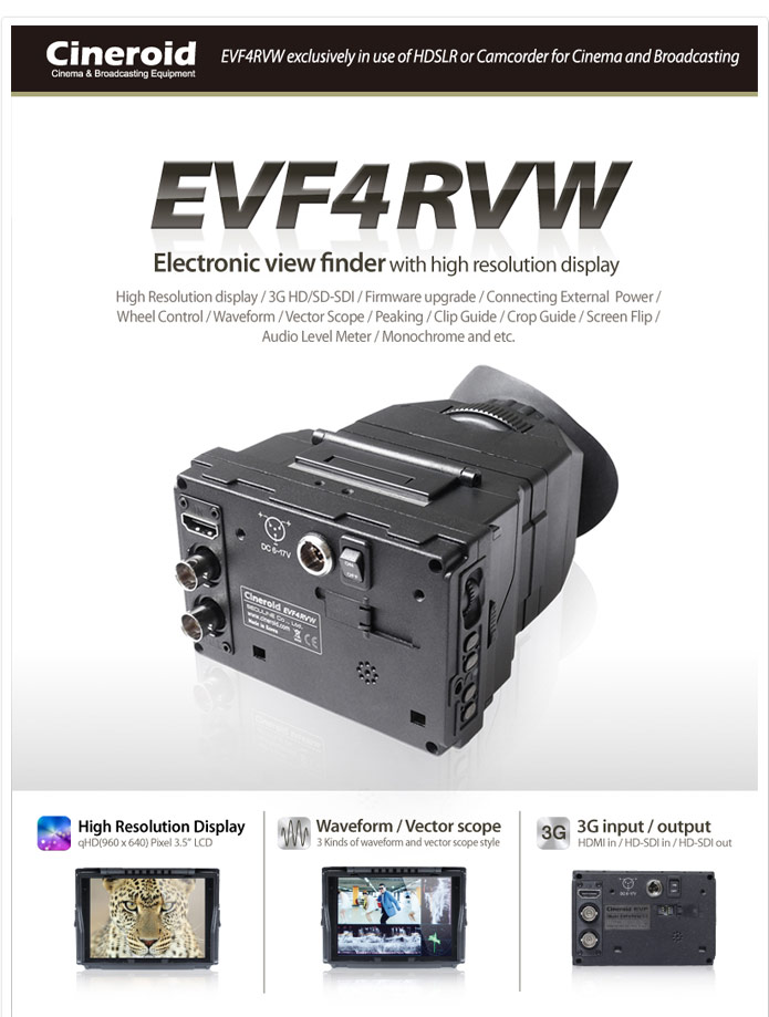 EVF4RVW Cineroid 3.5inch EVF Monitor