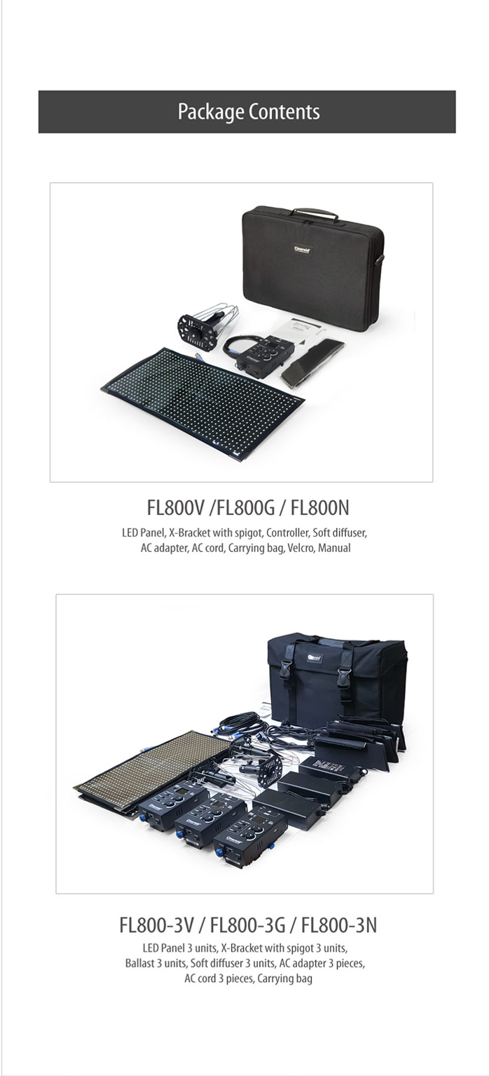 FL800N 800 Flexible Light a set with No mount