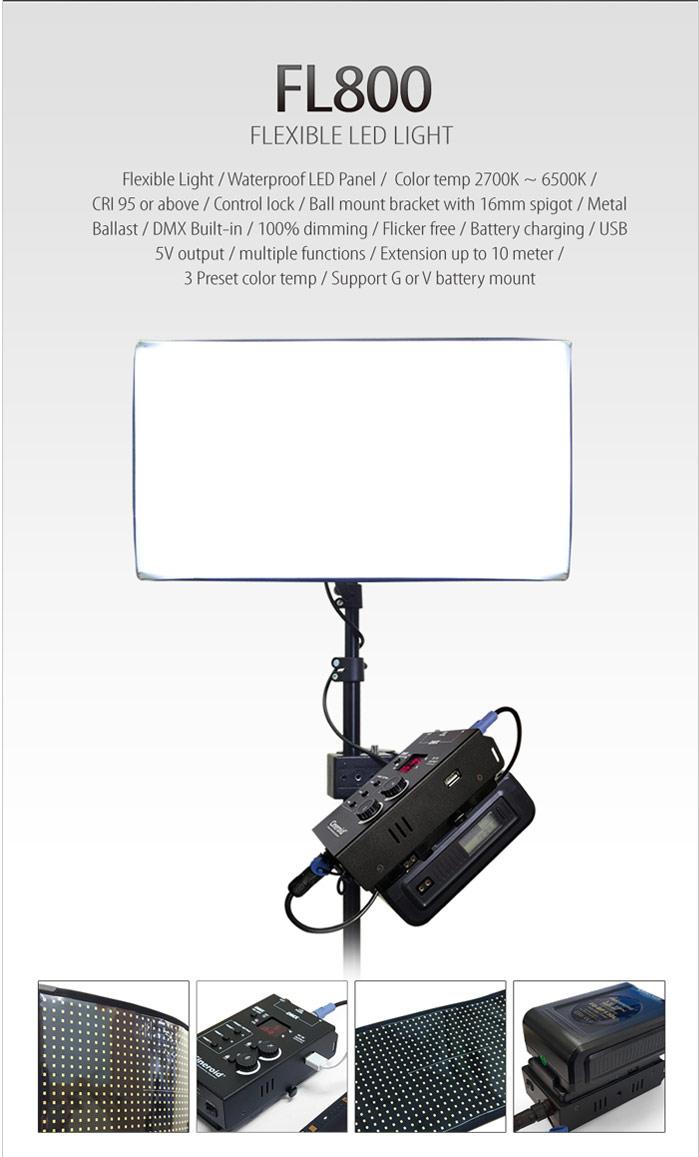 FL800-3V 800 Flexible Light 3 set with V mount