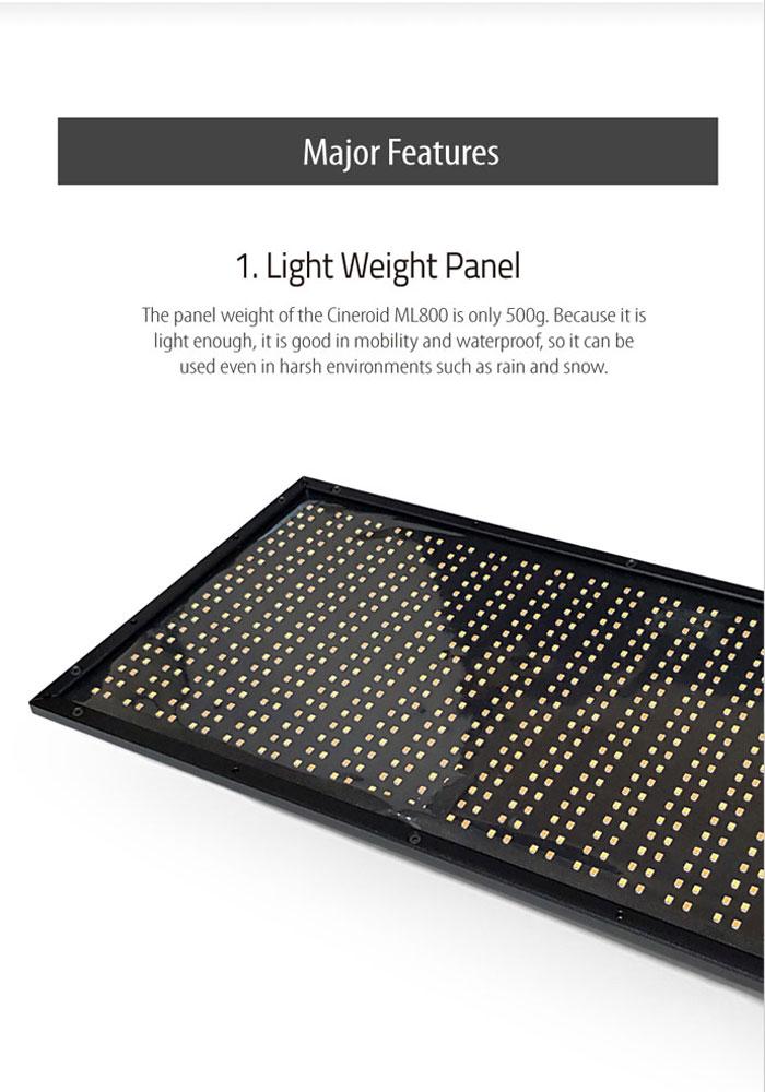 ML800V 800 Metal Light a set with V mount