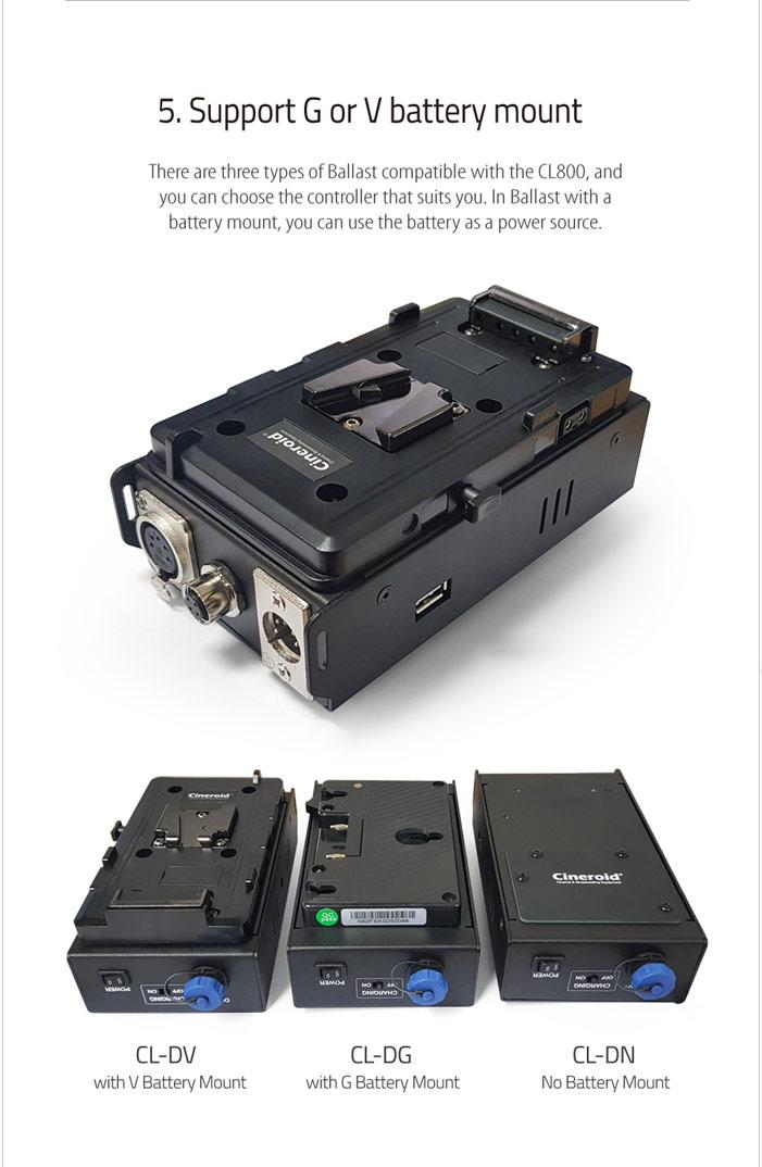 CL800V 800 Color Light a set with V mount