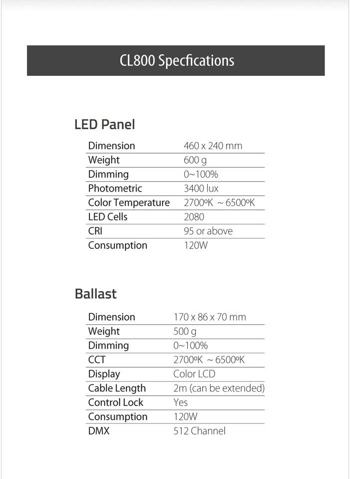 CL800N 800 Color Light a set with No mount