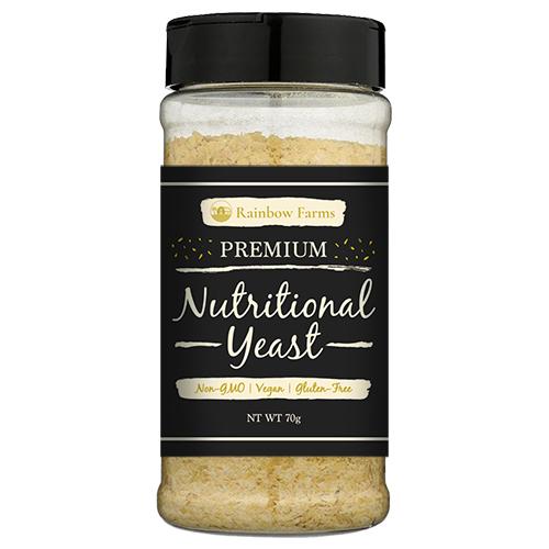 ニュートリショナルイースト [レギュラー] Rainbow Farms オリジナル Nutritional yeast ヴィーガン 無香料 無着色 遺伝子組み換え不使用 NON-GMO
