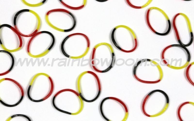 輪ゴム (夜光 バイパー)(黄色+赤色+黒色)  B0125