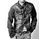 デニムジャケット 色落ち加工 ダメージ 【メンズデニムコーデアイテム!!】#T705