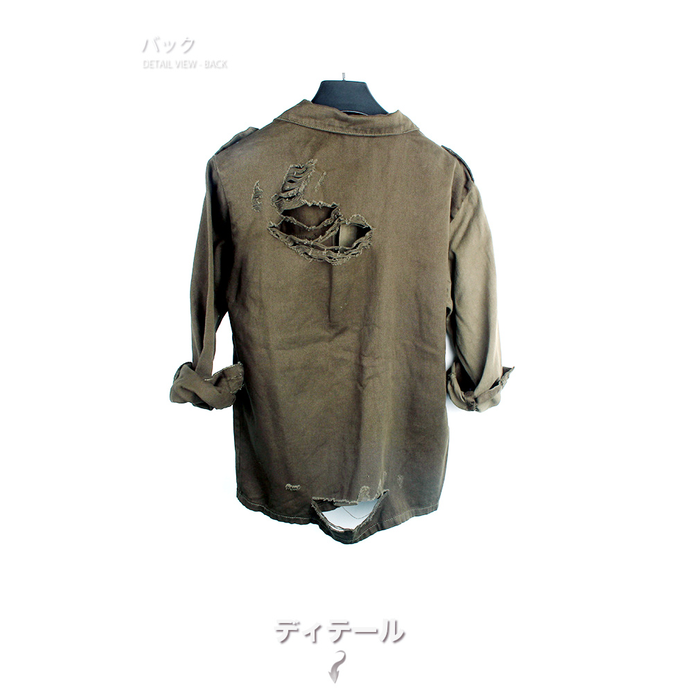 デニムシャツジャケット バイカラー #TS411