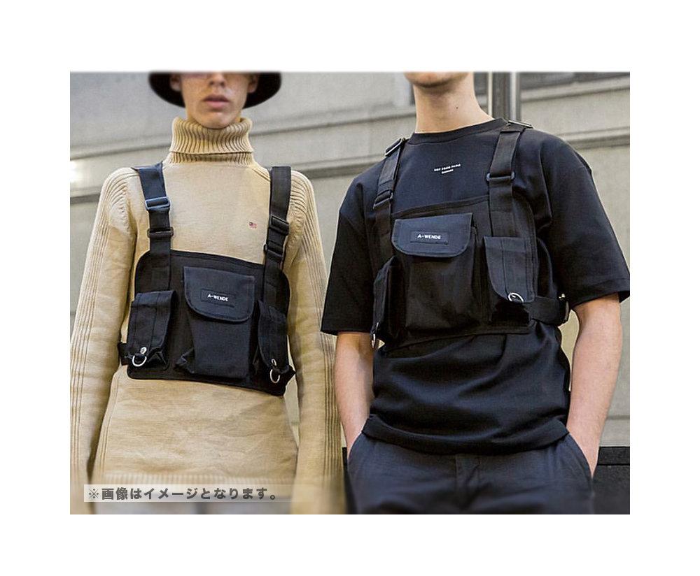 チェストバッグ ボディバッグ chest bag 【メンズミリカジアイテム!!】#A918